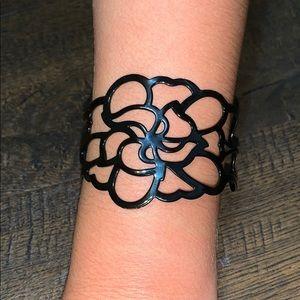 Lia Sophia flower cuff bracelet